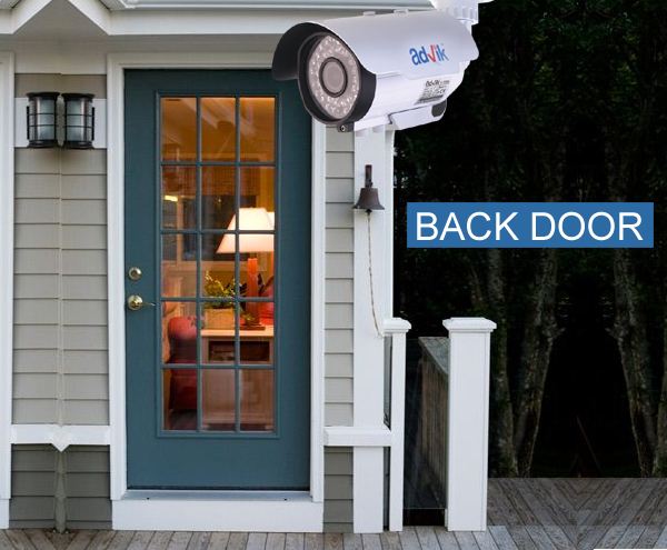 Back Door Entry : Perfect places to place the security camera at home